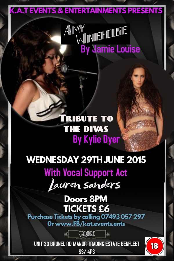 Tribute Night with AMY WINEHOUSE tribute Supported by Lauren Sanders