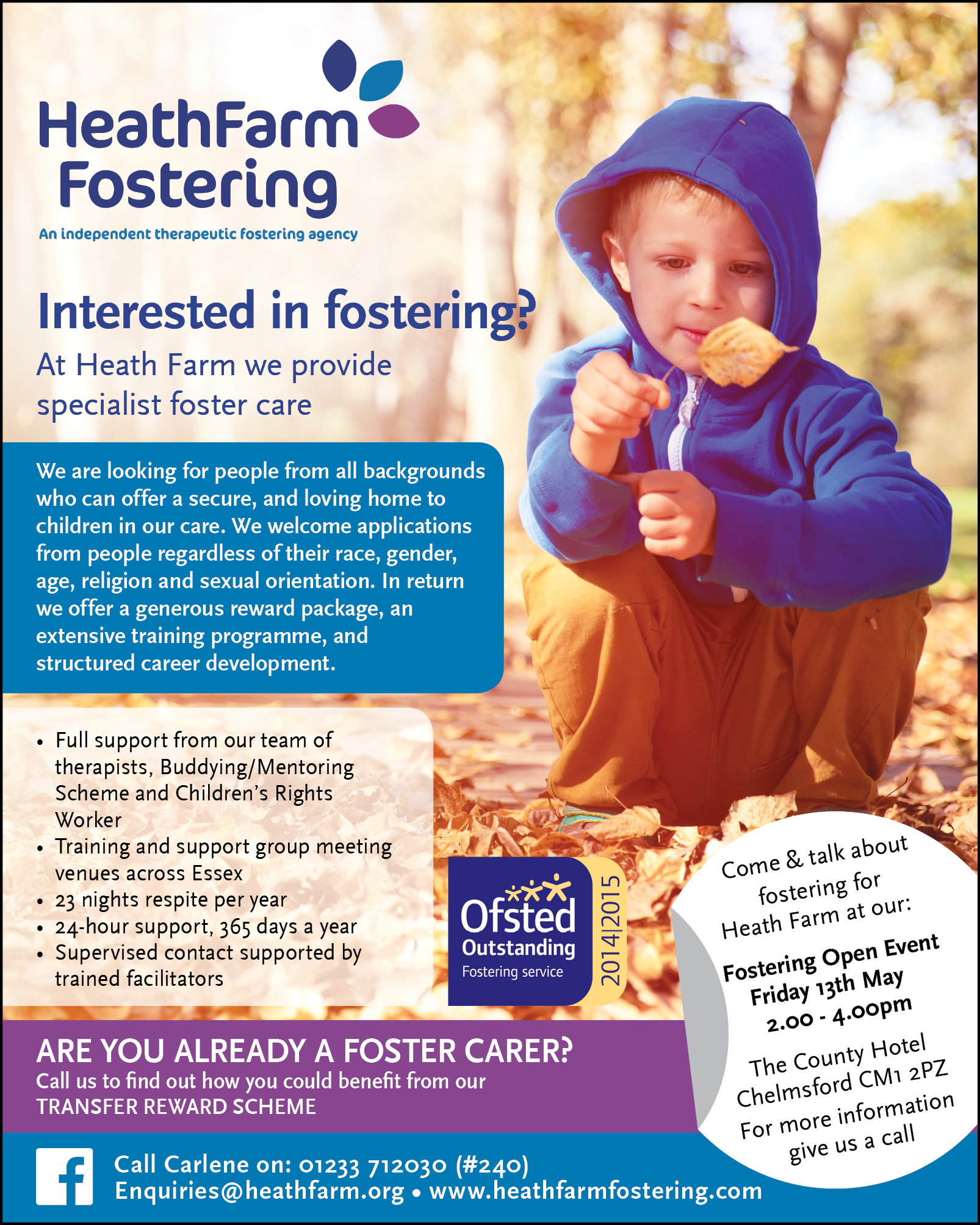 Heath Farm Fostering Open Event