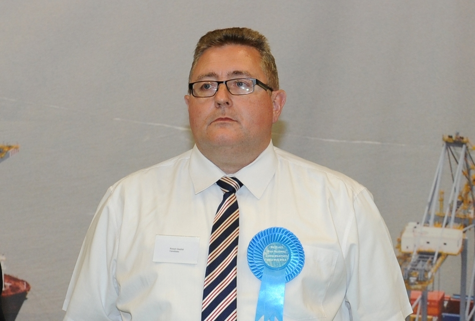The new Conservative leader of Thurrock Council Rob Gledhill