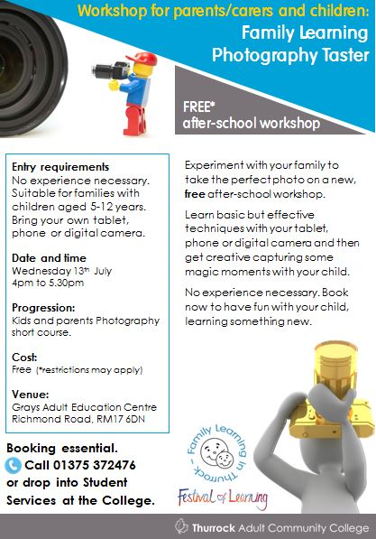 Free Family Learning Photography workshop