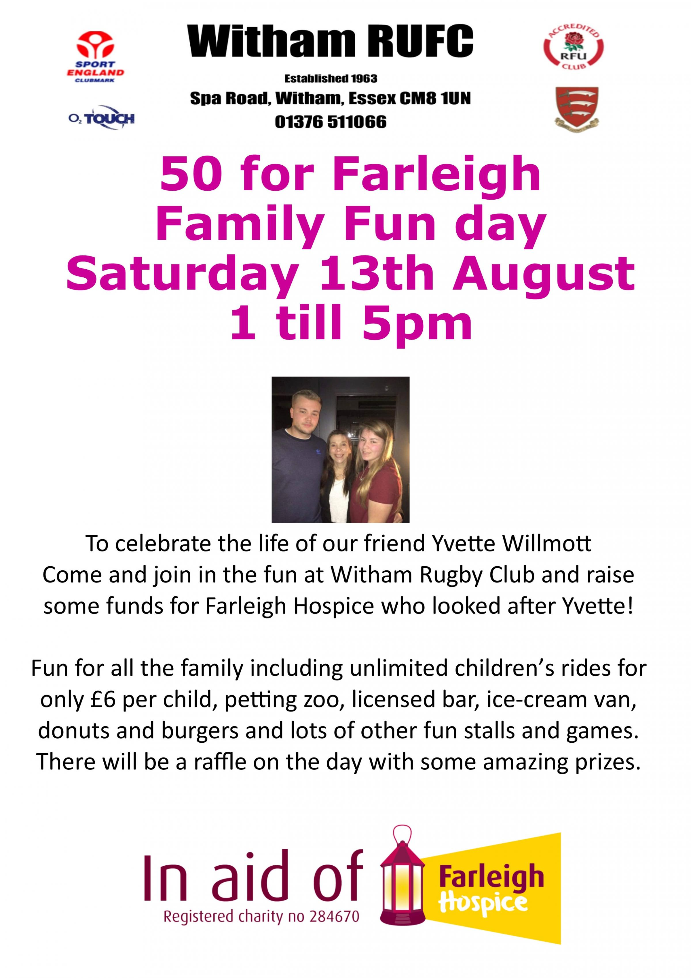 Family funday for Farleigh Hospice