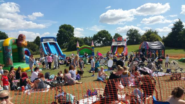 Hundreds of Stanford-le-Hope residents gather to enjoy the Hardie Park Summer Bounce Day