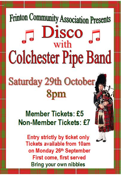 Disco with the Colchester Pipe Band