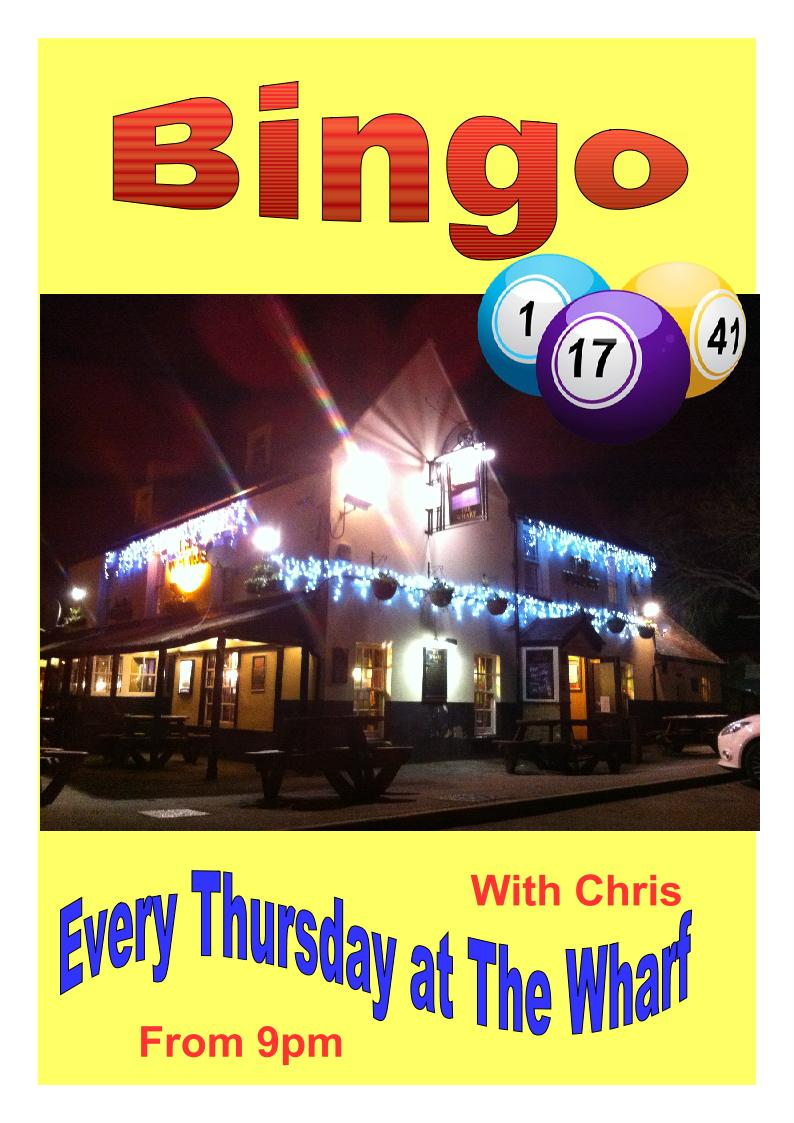 Bingo Night at the Wharf Pub, Grays