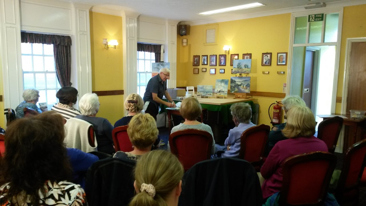 Professional Artist Art Demonstration hosted by Halstead Art Group