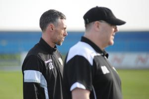 Hoping for an upturn in fortunes next season - Grays Athletic manager Jamie Stuart, left