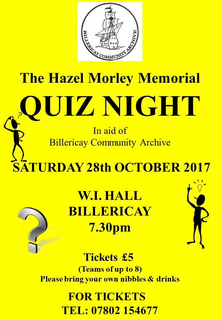 The Hazel Morley Memorial Quiz Night