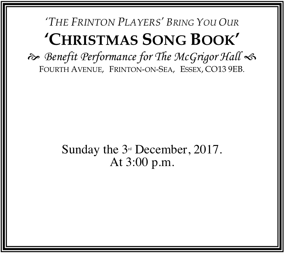 The Frinton Players Christmas Song Book