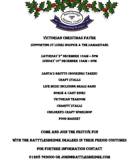 Battlesbridge Victorian Christmas Fayre