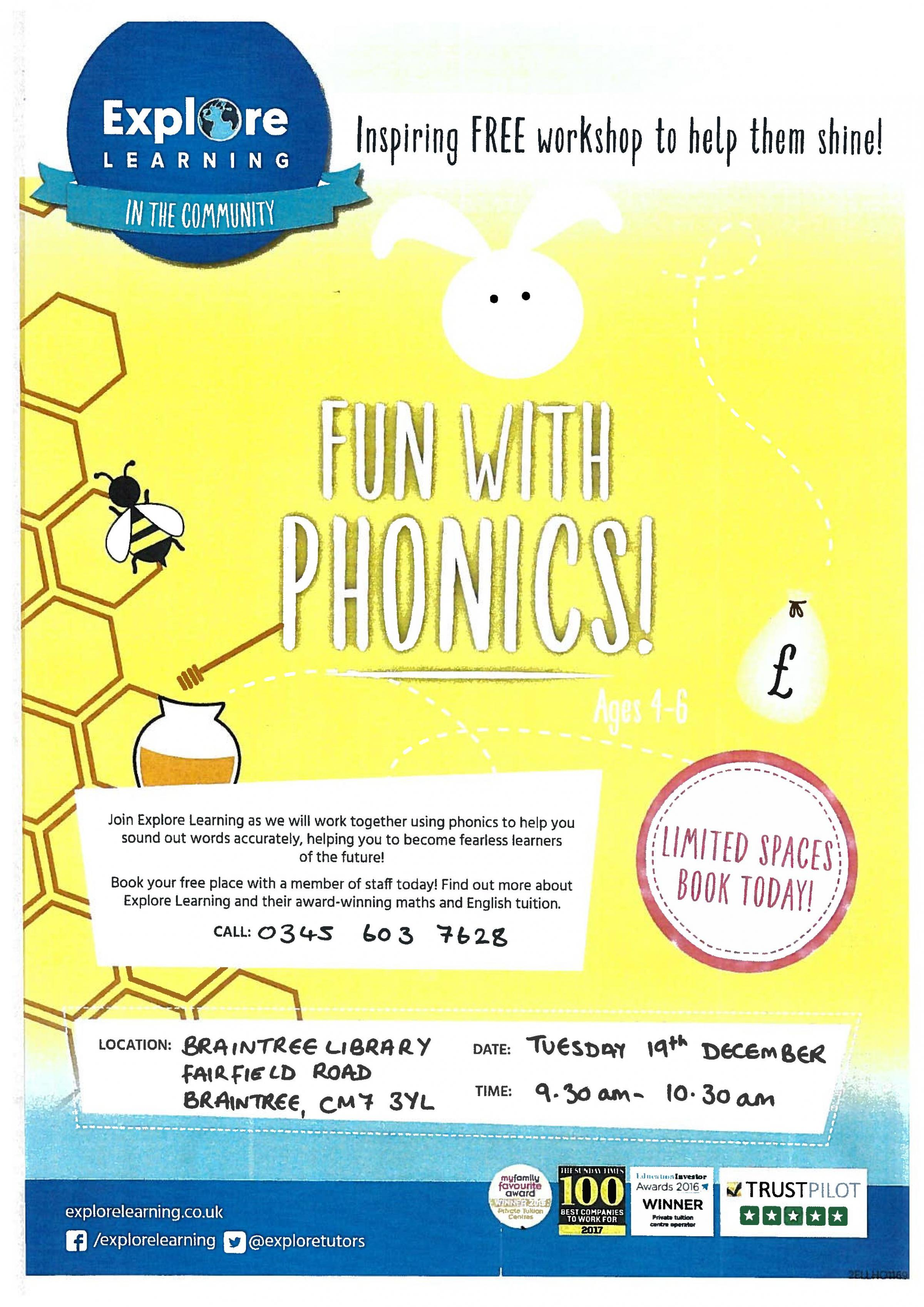 Fun With Phonics - Explore Learning Workshop