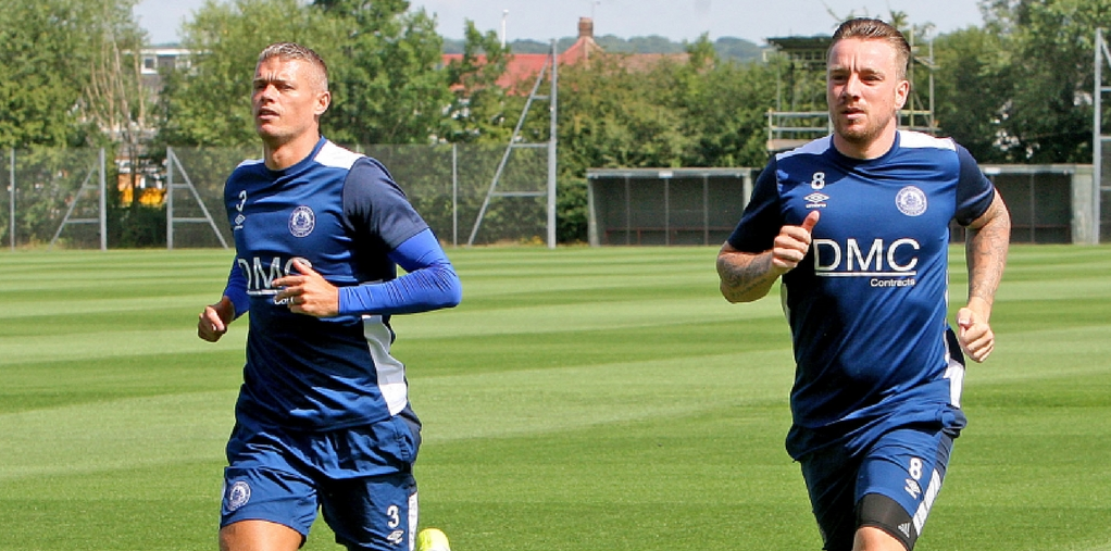 In talks - Paul Konchesky, left, is attracting interest from Grays Athletic after leaving Billericay Town       Picture: NICKY HAYES