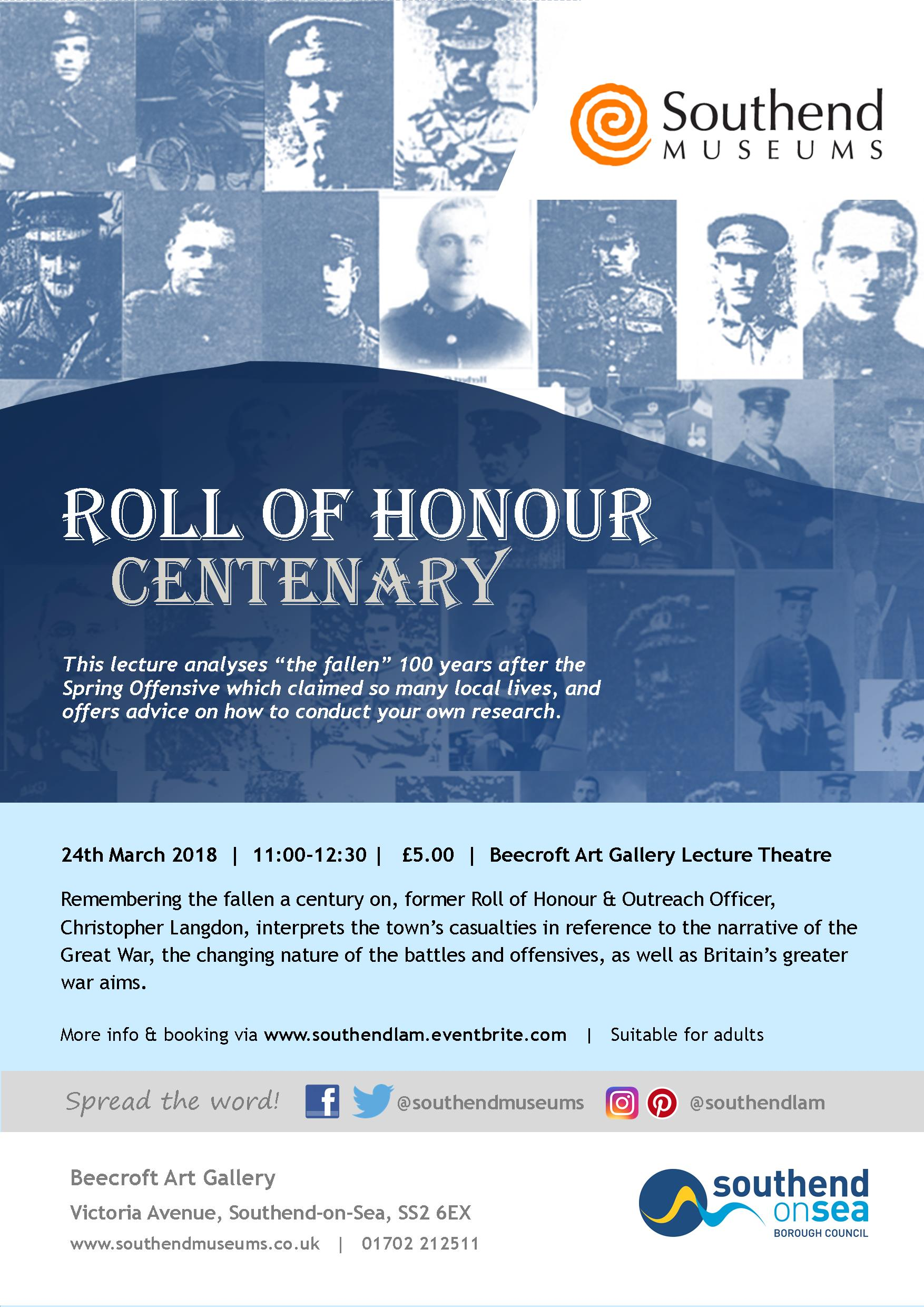 Roll of Honour Centenary
