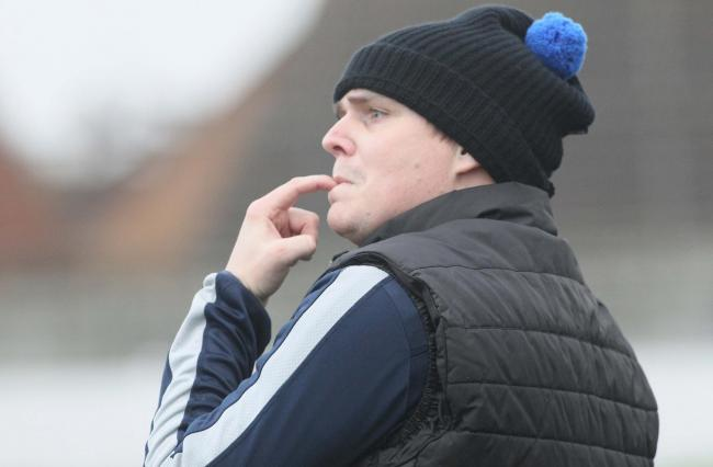 Looking on - Aveley boss James Webster is feeling positive
