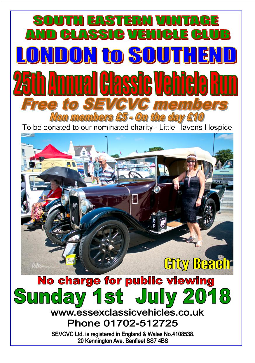 SEVCVC 25th Annual London to Southend Classic Vehicle Run