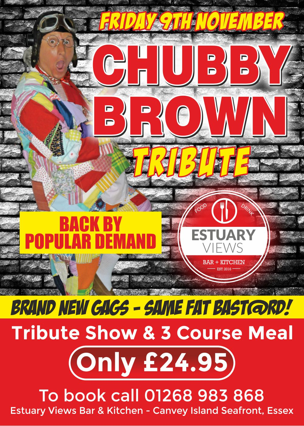 Roy Chubby Brown Tribute Comedy Night