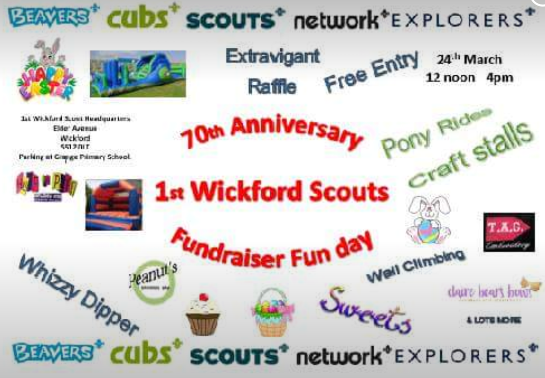 1st Wickford scouts 70th anniversary Camp  fund raiser