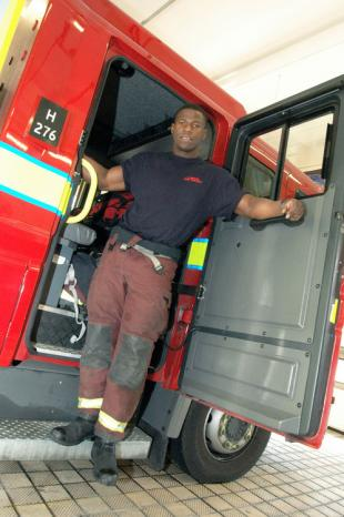 Wole took a break from his job at Battersea fire station to take part in the competition