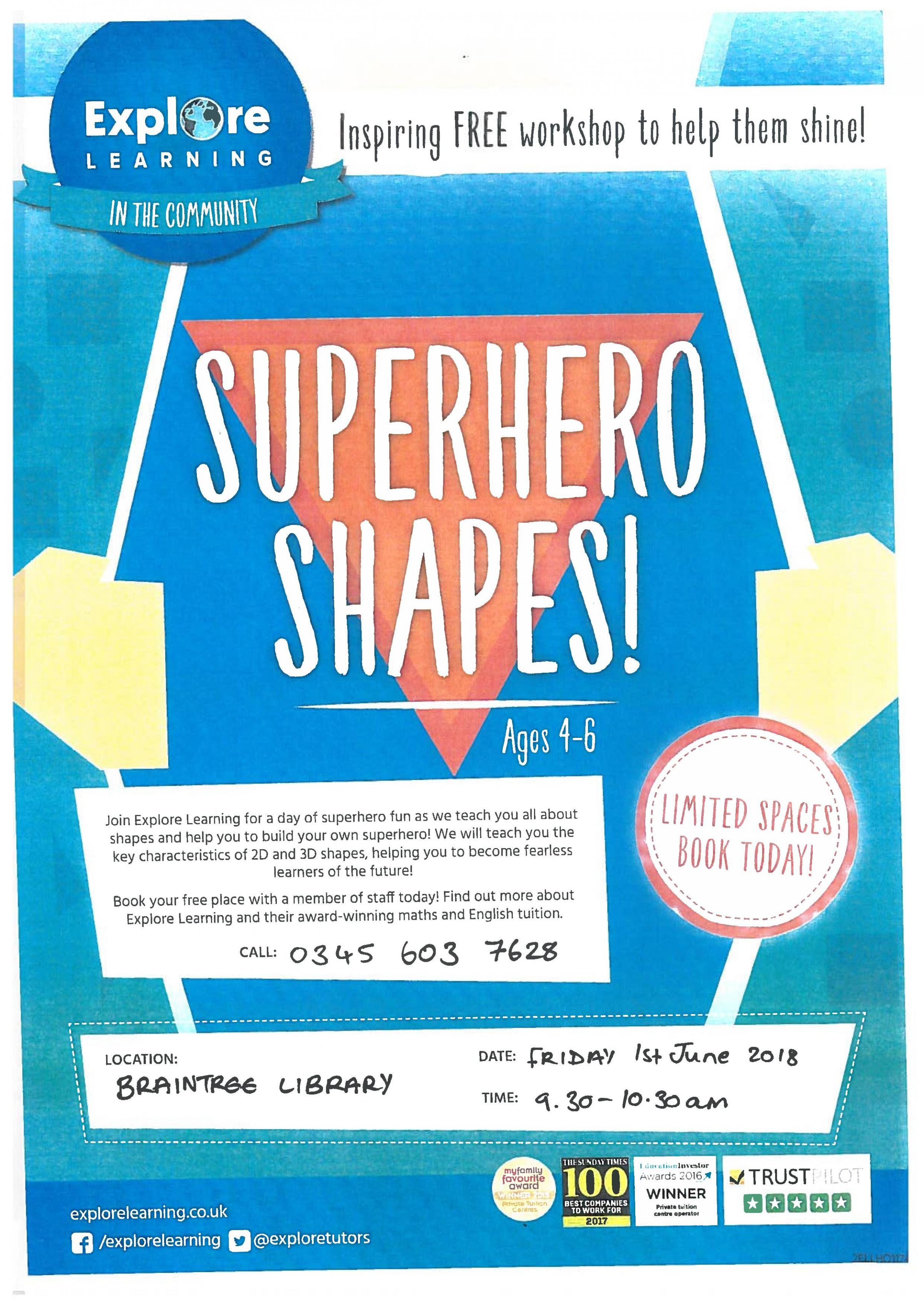 Explore Learning Workshop - Superhero Shapes!