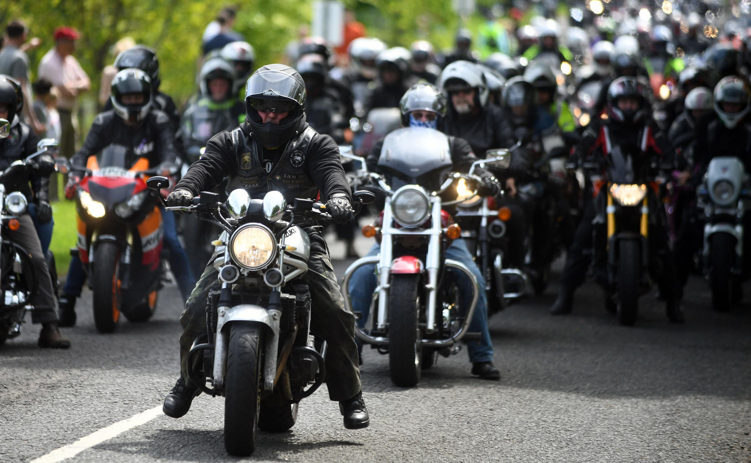 Crowd - bikers will take to the road tomorrow