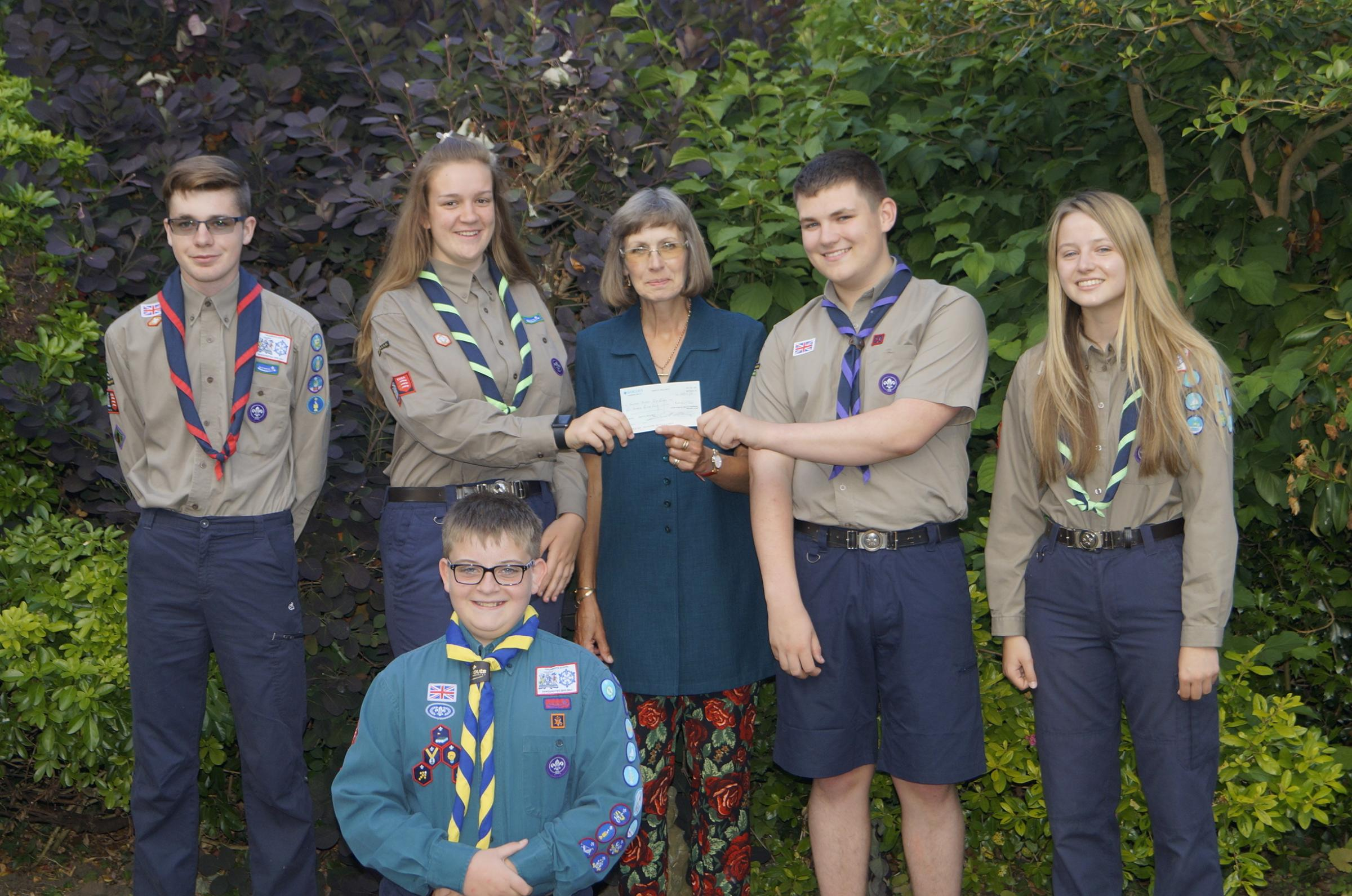 Connor Martin, Niamh Culshaw, Elaine Stevens from The Rotary Club of Grays Thurrock, Katherine Franklin, Will Ellis & Jacob Ward