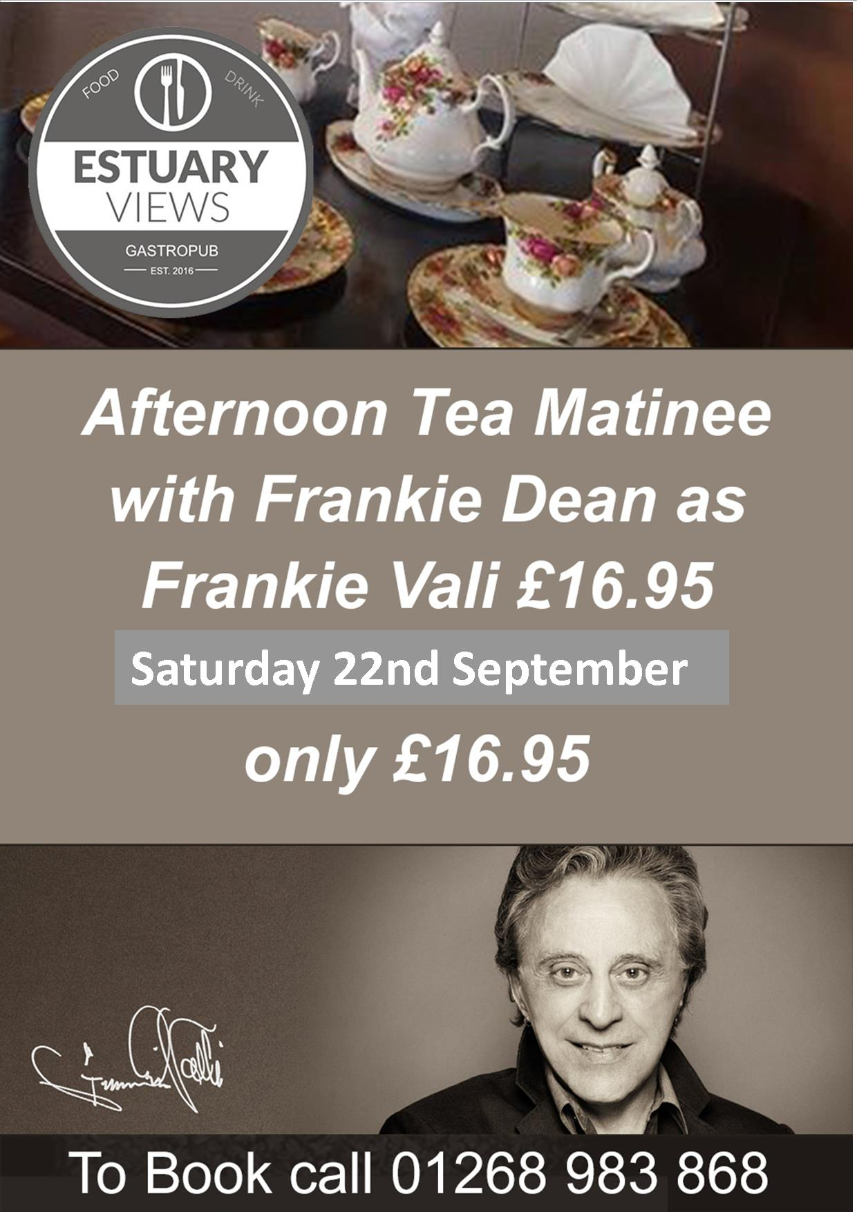 Afternoon Tea with Frankie Dean as Frankie Valli