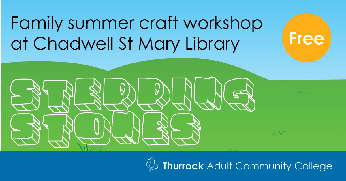 Free summer holiday craft workshop for families - Stepping Stones
