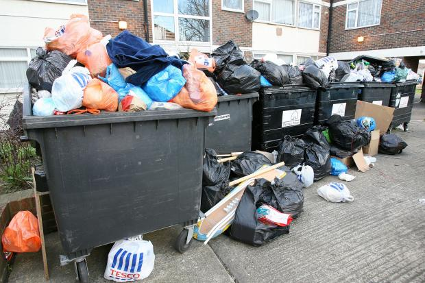 Residents complained of rubbish piling up in the heat as a result of the strike
