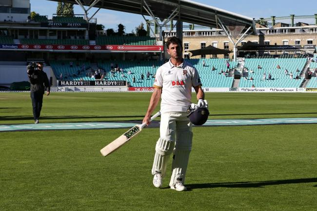 Essex skipper Ryan ten Doeschate leaves the field after clinching victory for his team during their dramatic Specsavers County Championship division one season's finale at Surrey. Picture: Gavin Ellis/TGS Photos