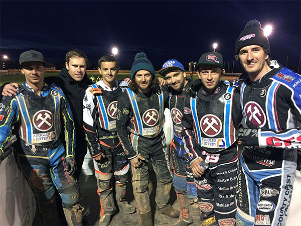 Winning team - Lakeside Hammers have a naroow lead ahead of the seond leg