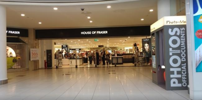 44b661344cd1 House of Fraser to close at Lakeside Shopping Centre