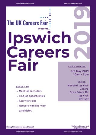 The UK Careers Fair in Ipswich, 3rd May