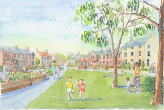 Idyll - the CGI representation of how a new town at West Tey could look if proposal get the go ahead