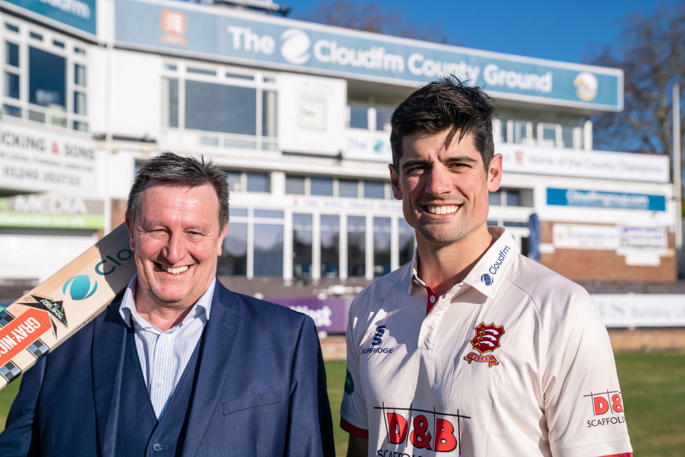 Jeff Dewing and Alastair Cook