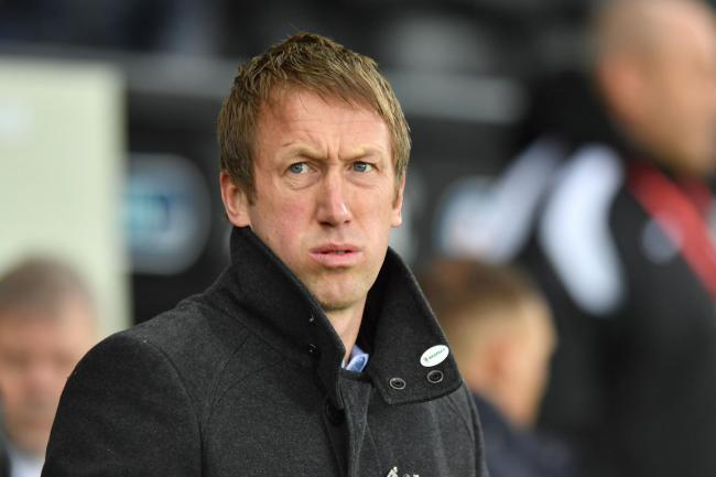 Swansea boss Graham Potter. (PA)