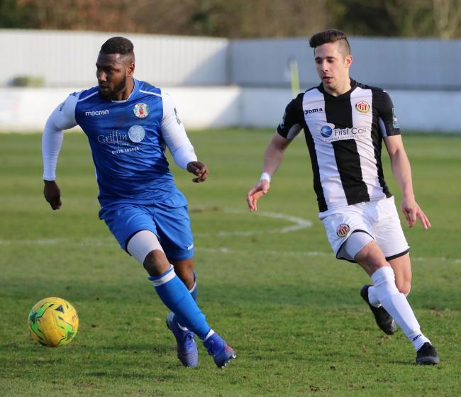 On the scoresheet - Grays Athletic winger Joao Carlos Picture: PETER JACKSON