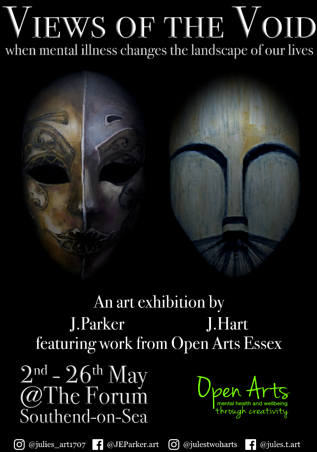 'Views of the Void' An Exhibition by Julia Hart and Julie Parker with Open Arts Essex