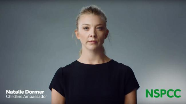 Natalie Dormer in NSPCC campaign